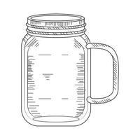 glass jar sketch vector