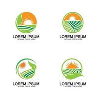 Organic farming logo vector illustration