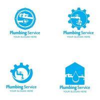 Plumbing Service Logo icon vector