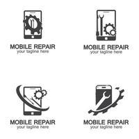 Mobile Phone Repair Logo vector