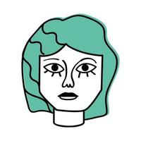 woman painting face vector
