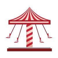 amusement park swing carousel ride carnival isolated design vector