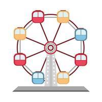 amusement park ferris wheel carnival isolated design vector