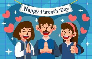 feliz celebración del día de los padres vector