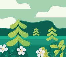 landscape nature forest vector