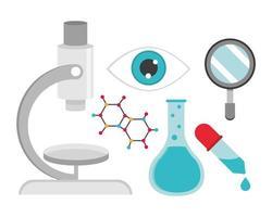 science chemistry set vector