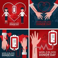 Blood Donor Card Concept vector