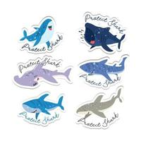 Shark Protection Sticker vector