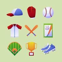 paquete de iconos de softbol vector