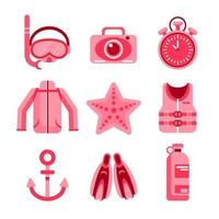 Set of Diving Icons vector