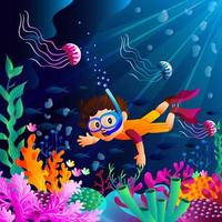 Diving during Summer vector