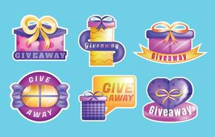 Giveaway Gift Sticker Template vector