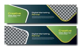 modern web banner template vector