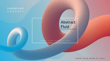 colorfull abstract fluid background vector