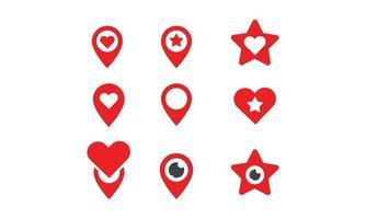 location icon set vector