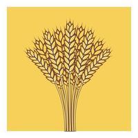 espigas de trigo, cebada o centeno, vector, icono vector