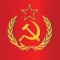 RUSSIA EX COUNTRY FLAG SOVIET UNION USSR COMMUNIST RED ARMY SYMBOL ICON LOGO vector