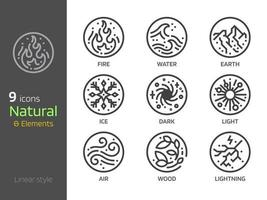 Nature symbol concept and 4 elements sign icon vector