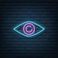 Eye Neon Sign vector