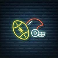 American Football Neon Sign vector
