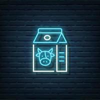 Milk Neon Sign vector