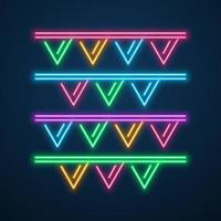 neon light decoration party vector