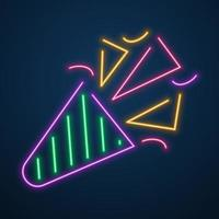 neon light gift party vector