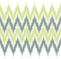 Abstract floral seamless pattern border Artistic drawn zig zag lines tiling background Stylish ornamental zig zag lines backdrop vector