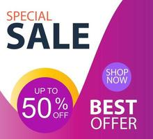 Special Sale up to 50 off Shop Now Label Tag Vector Template Design Illustration