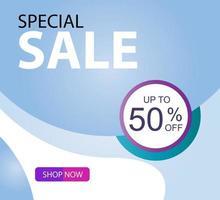 Merry Christmas Sale 50 off Best Offer Vector Template Design Illustration