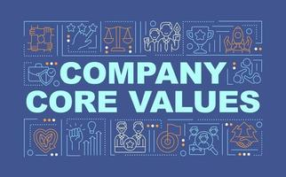 Company core values word concepts banner vector