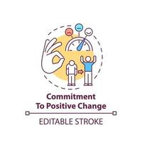 Commitment to positive change concept icon vector