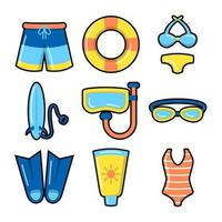 Swimming Essentials For Summer vector