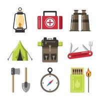 Set of Summer Camp Icons vector