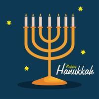 Happy hanukkah menorah vector design