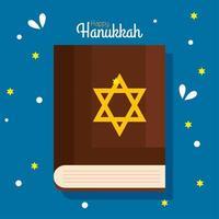 Happy hanukkah torah vector design