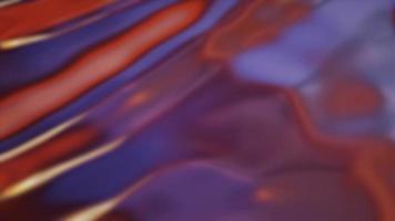Boucle de surface liquide ondulée irisée abstraite d'ondulations en mouvement abstraites video
