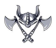 helmet horned drawn vector