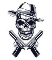 gángster y armas vector