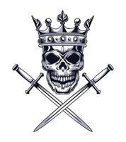skull with swords vector