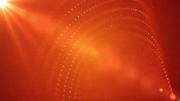 vídeo de fundo espiral de partículas abstratas de laranja video