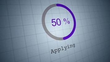 cirkulär stapel som visar appliceringsprocent video