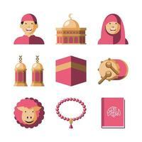 Eid Al Adha Icon Collection vector