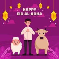 Happy Eid Adha vector