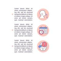 Spoken language delay concept line icons with text vector