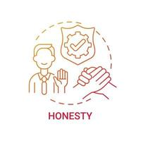 Honesty concept icon vector