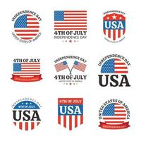 America Independence Day Badges vector