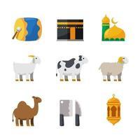 Eid Adha Day Celebration Icon vector