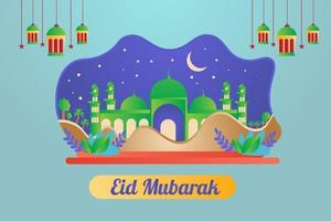 Eid Mubarak Background Design illustration vector