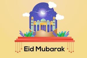 Eid Mubarak Banner Design illustration vector
